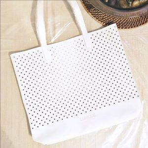 Clinique carry all white tote